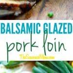 A collage image of balsamic glazed pork