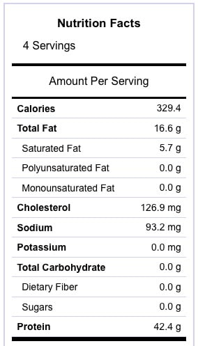Boneless Pork Loin Roast Nutrition Information