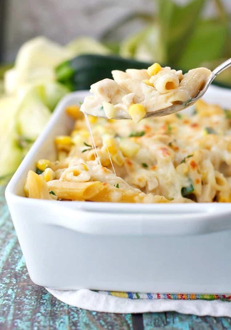 Chicken Penne Casserole with Corn and Zucchini 7