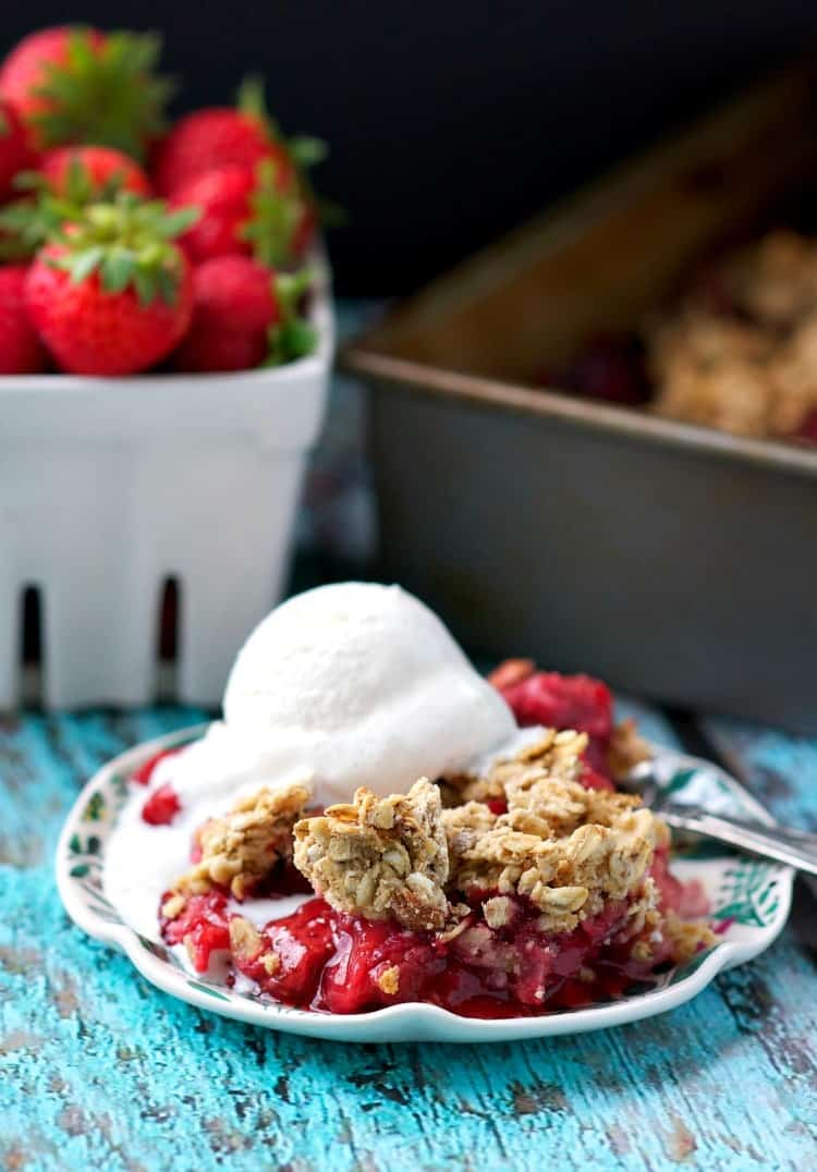 Clean and Healthy Strawberry Crisp 8