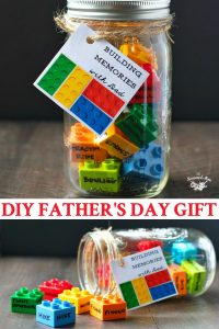 Long collage of easy DIY Father's Day Gift Idea