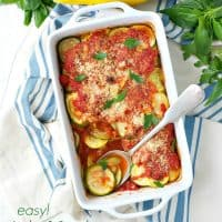 Easy Zucchini and Summer Squash Gratin TEXT
