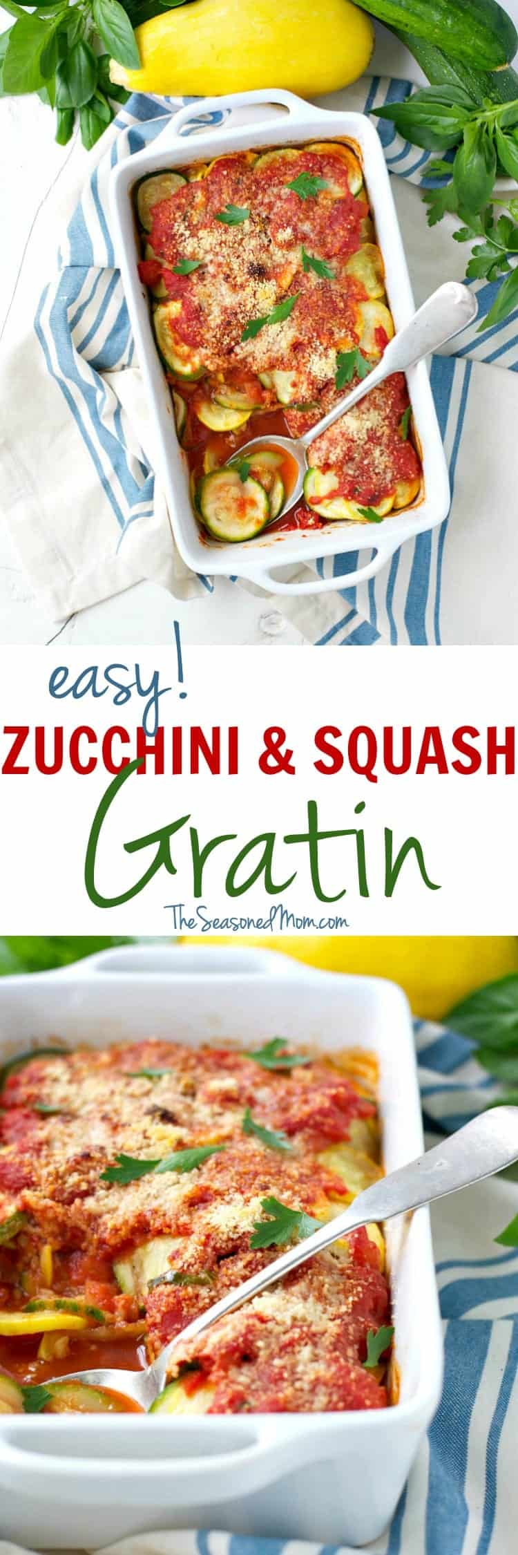 at this time of year, right?! With layers of zucchini, summer squash ...