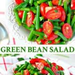 Long collage image of Green Bean Salad