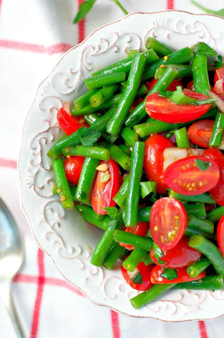 Simple italian green bean salad 100 giveaway the for Green italy