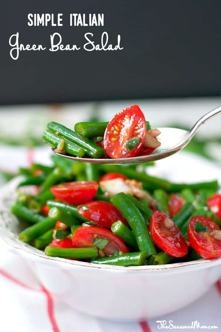 Simple Italian Green Bean Salad 100 Giveaway The Seasoned Mom