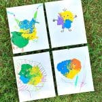 Easy Art Activity for Kids: Blow Paint Monsters