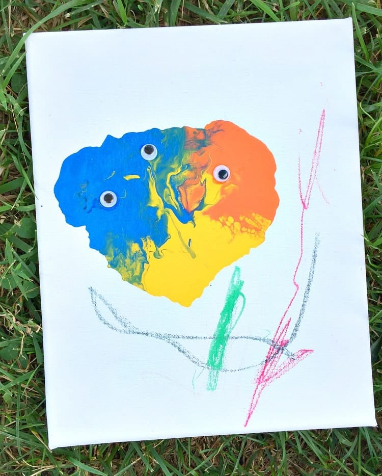 An easy art project for little kids!