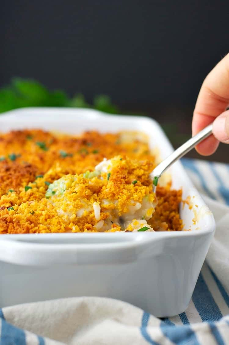 Cheddar Crusted Chicken and Broccoli Casserole 6
