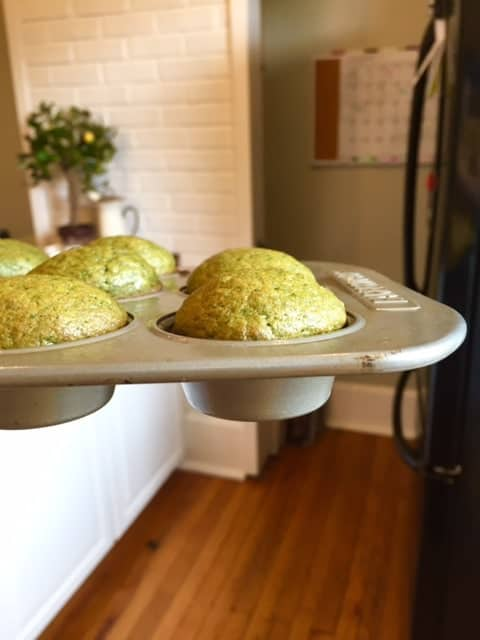 My toddler LOVES these Green Monster Mini Muffins, which taste exactly like banana bread (I guarantee you will never know there's SPINACH inside)!