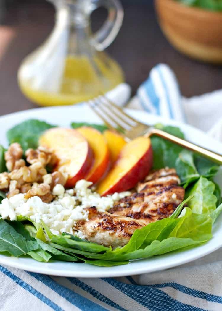 Grilled Chicken Nectarine and Walnut Salad 7