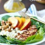Grilled Chicken, Nectarine and Walnut Salad