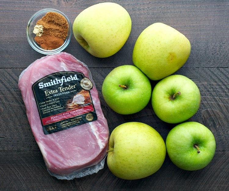Slow Cooker Pork with Spiced Apples is part of the 6 Healthy Slow Cooker Freezer Meals in 45 Minutes!