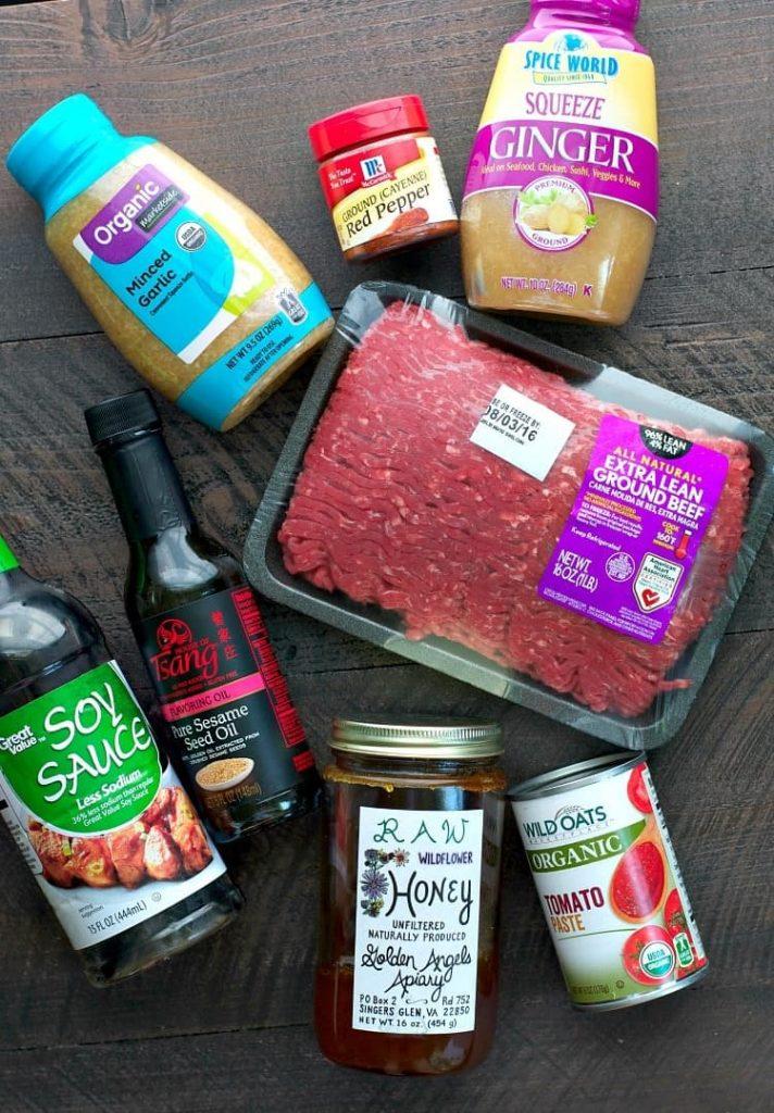 Ingredients for Healthy Slow Cooker Korean Beef