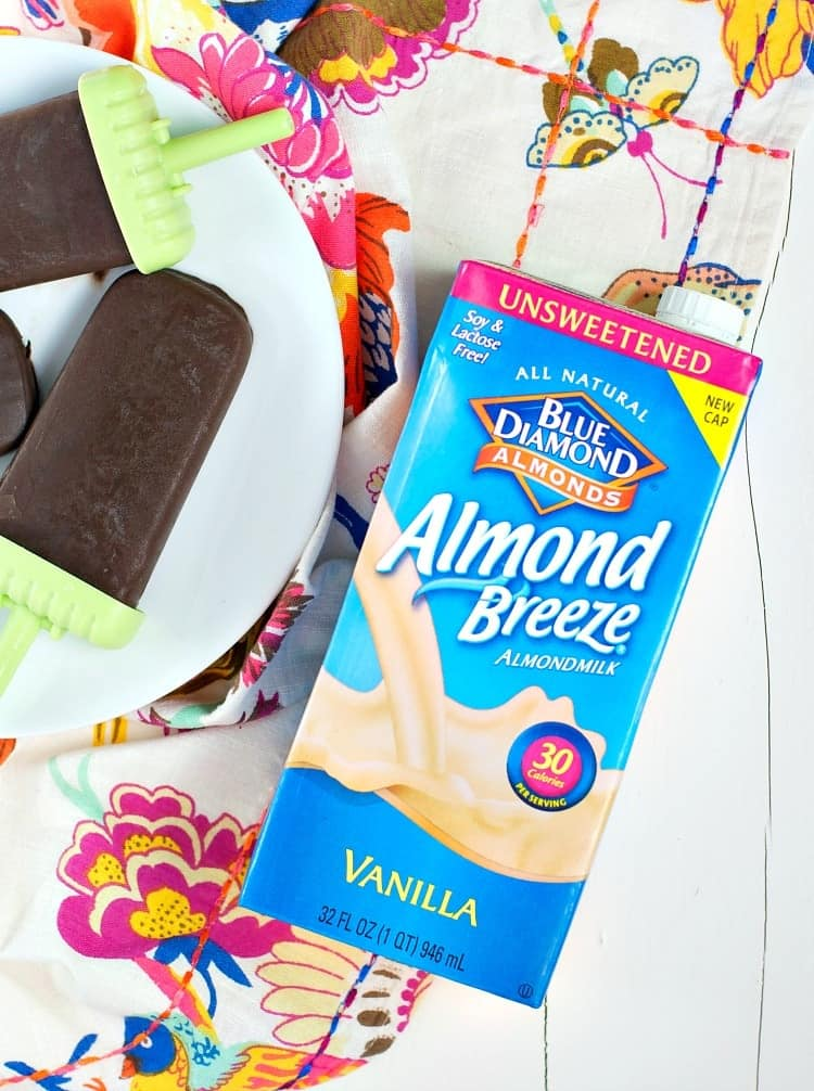 Rich, creamy, chocolatey...and good for you? That's right! These Healthy Chocolate Almond Fudge Pops are an easy, low-calorie, clean eating snack or dessert that will power you through the summer!