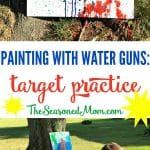 Painting with Water Guns: Target Practice!