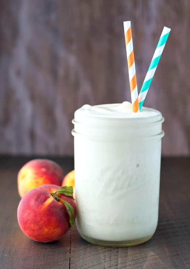 Peaches and Cream Protein Smoothie 4