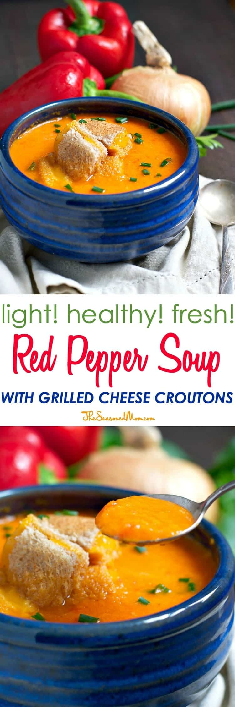 ... Soup with Grilled Cheese Croutons is an easy and healthy vegetarian