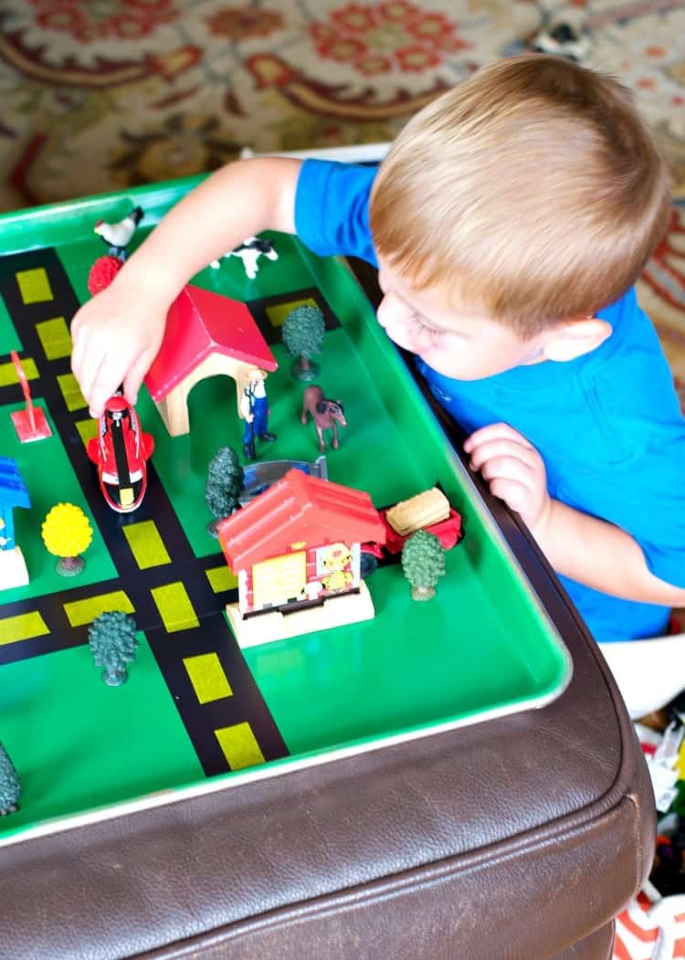 Sheet Pan Roads are an easy Homemade Gift for Kids!