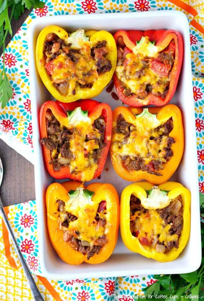 Skinny Taco Stuffed Peppers 2