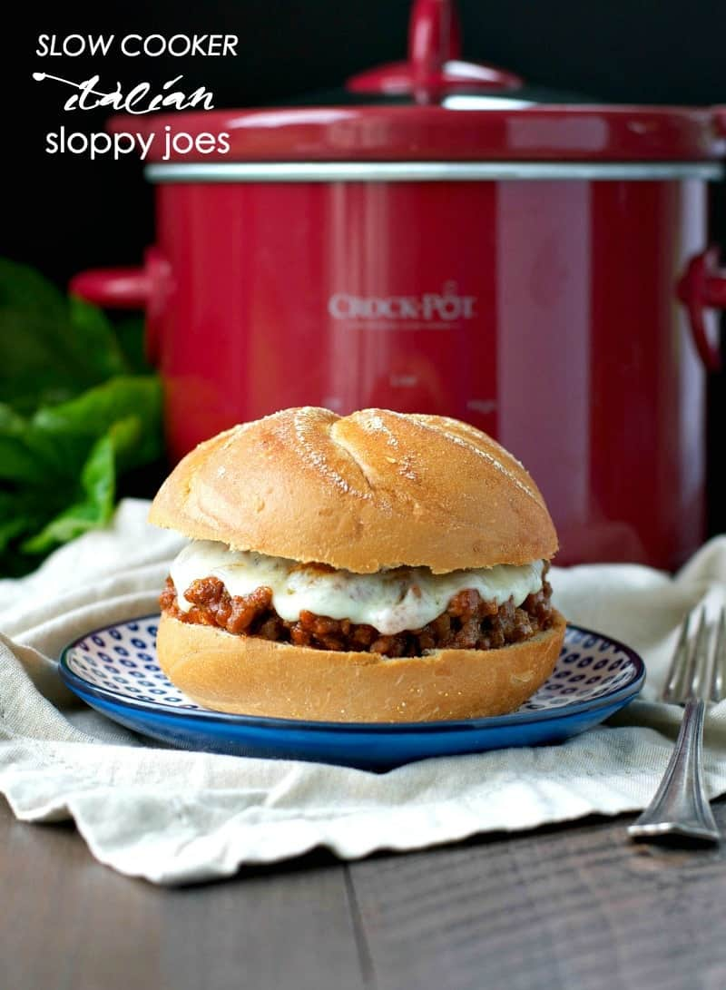 ... Crock Pot and let these Slow Cooker Italian Sloppy Joes simmer in your