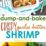A collage image for garlic butter shrimp