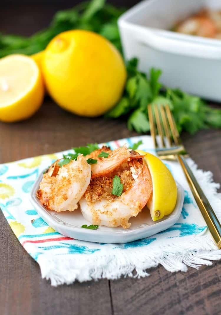 Dump and Bake Crispy Garlic Butter Shrimp 7