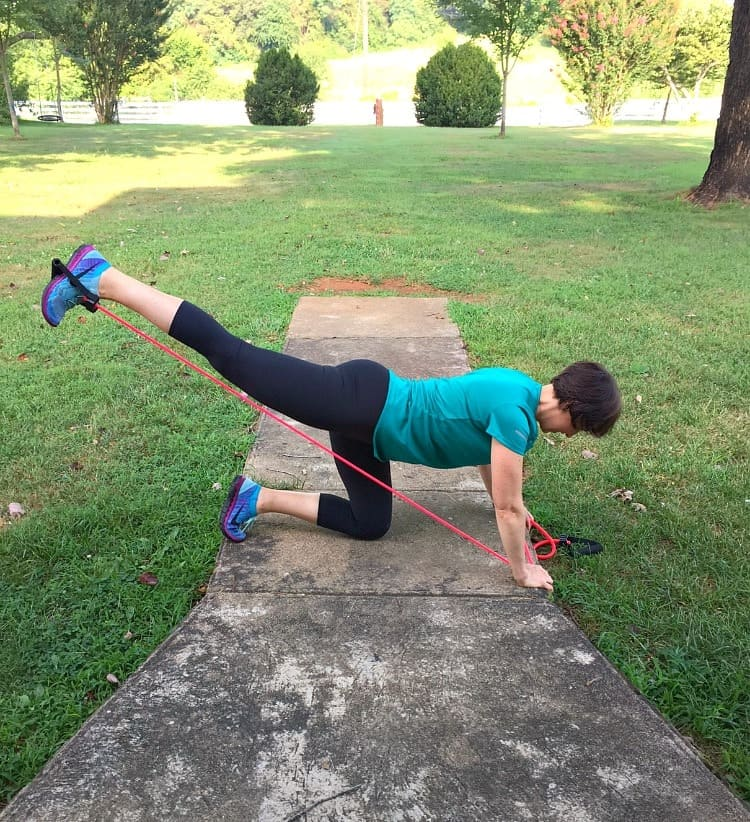 Low Impact Resistance Band Workout