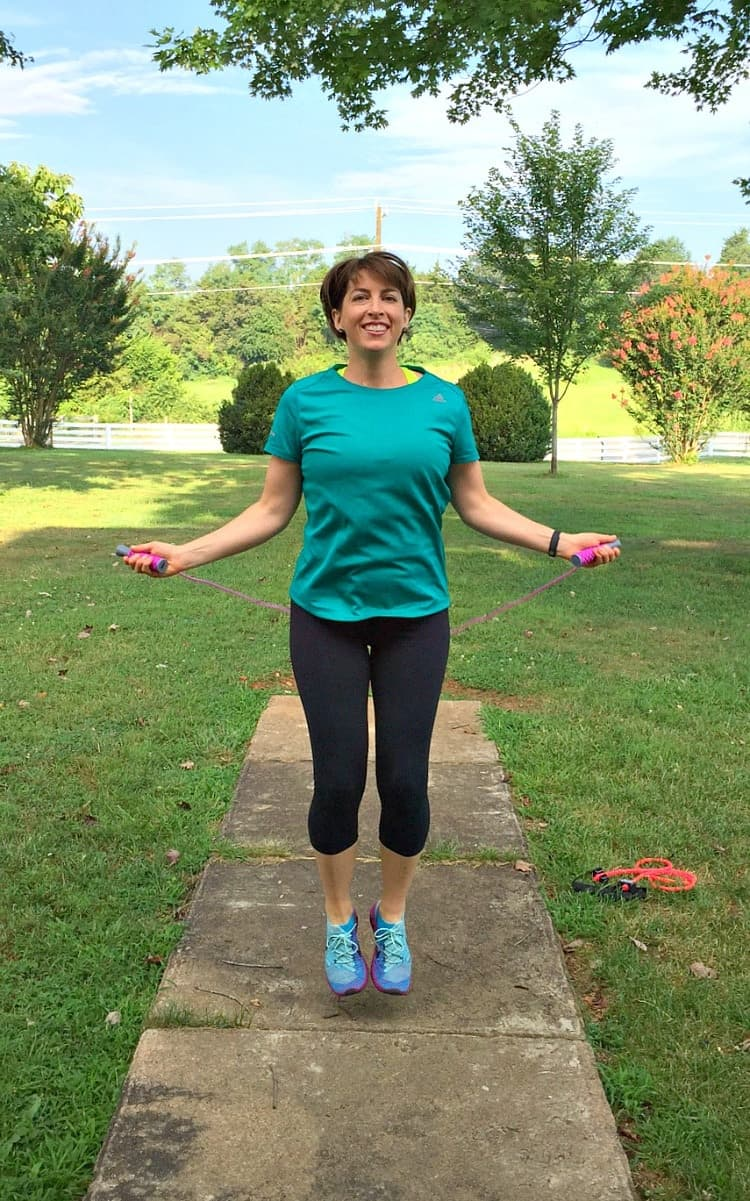 This Low Impact Resistance Band Workout combines cardio and strength training for a total body exercise routine that you can do almost anywhere -- in just 20 minutes!