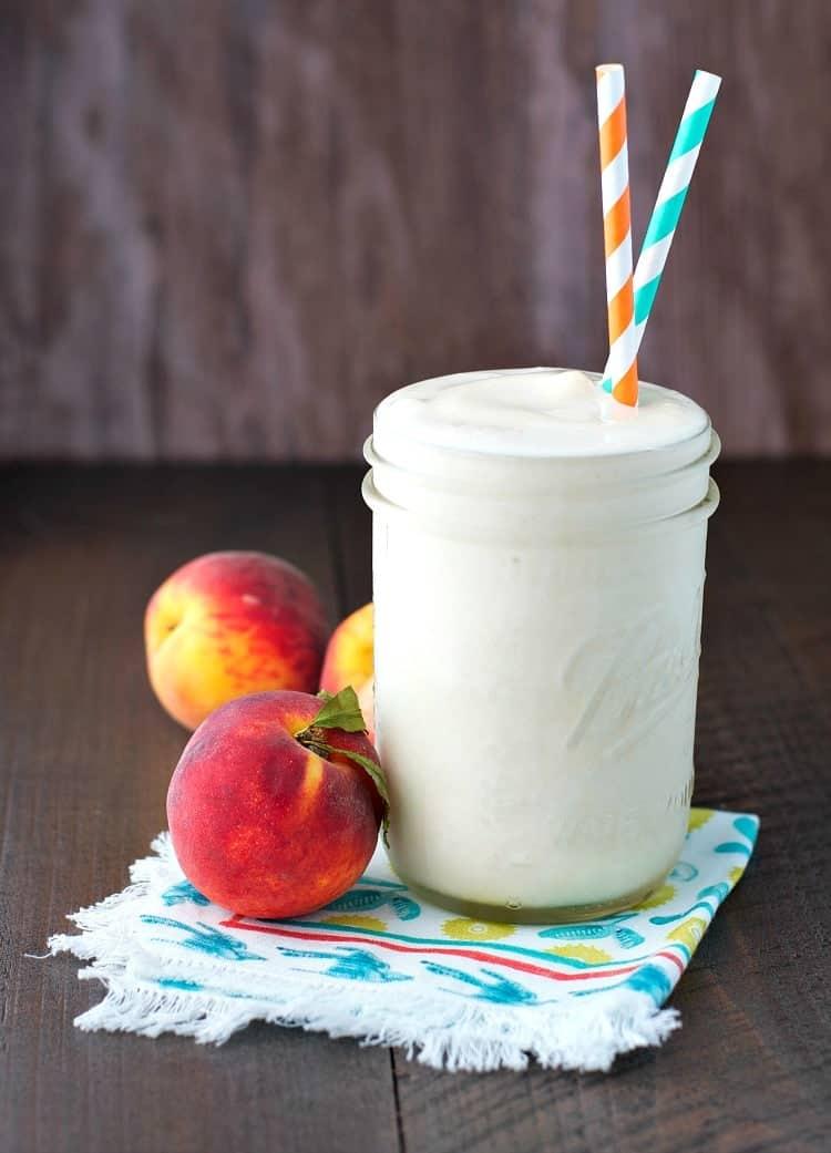 Peaches and Cream Protein Smoothie 7