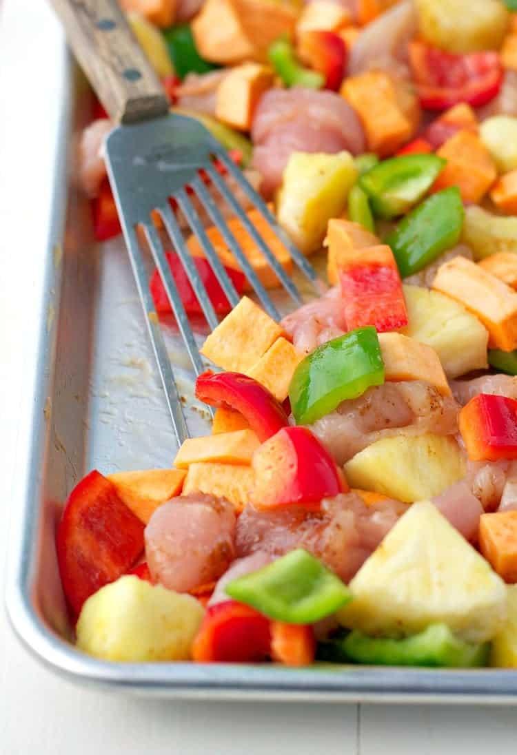 Sheet Pan Supper Hawaiian Chicken 7