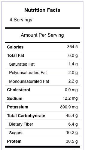 Sheet Pan Supper Hawaiian Chicken Nutrition Information