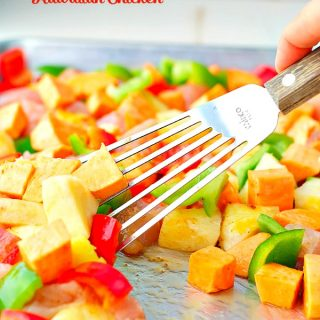 An easy and healthy dinner like this Hawaiian Chicken Sheet Pan Supper makes clean eating fast!