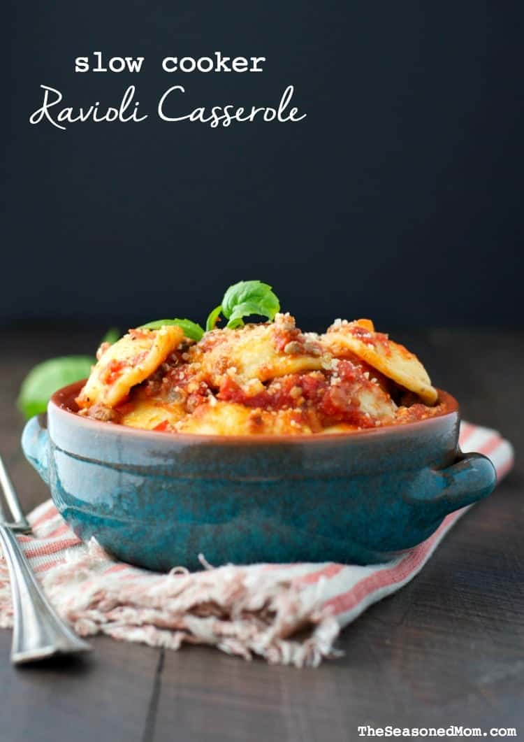 Slow Cooker Ravioli Casserole The Seasoned Mom