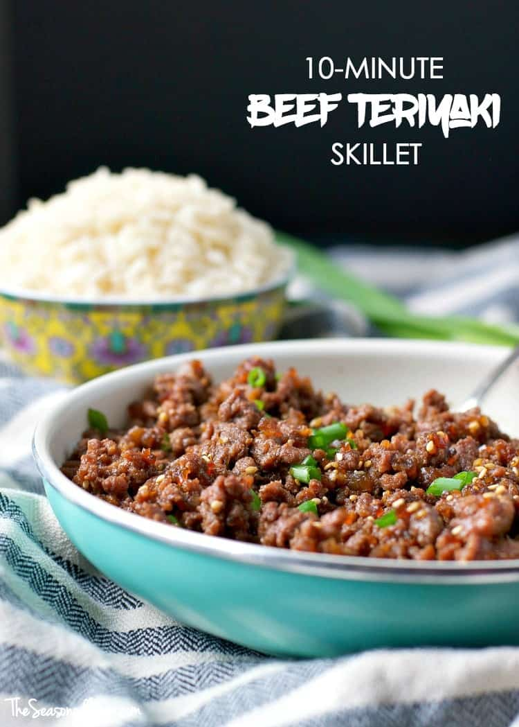 10 minute beef teriyaki skillet the seasoned mom you only need 5 ingredients and about 10 minutes to pull together an easy beef teriyaki forumfinder Image collections