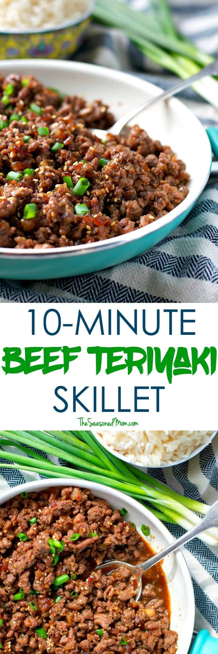 You only need 5 ingredients and about 10 minutes to pull together an easy Beef Teriyaki Skillet dinner that will rock your over-scheduled-world!