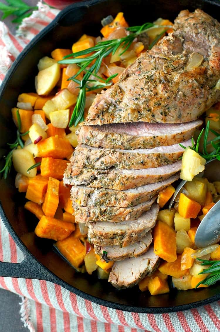 ... be five spice pork tenderloin with sweet potatoes and apples gotham