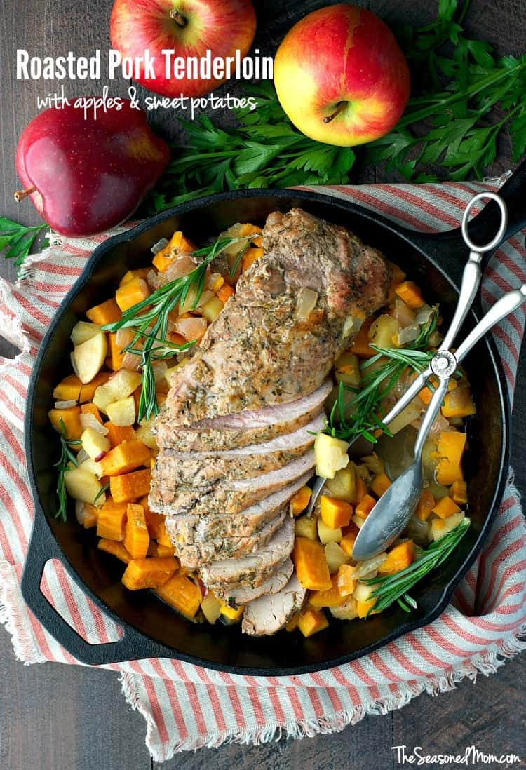 Pork Roast With Apples And Sweet Potatoes Recipe — Dishmaps