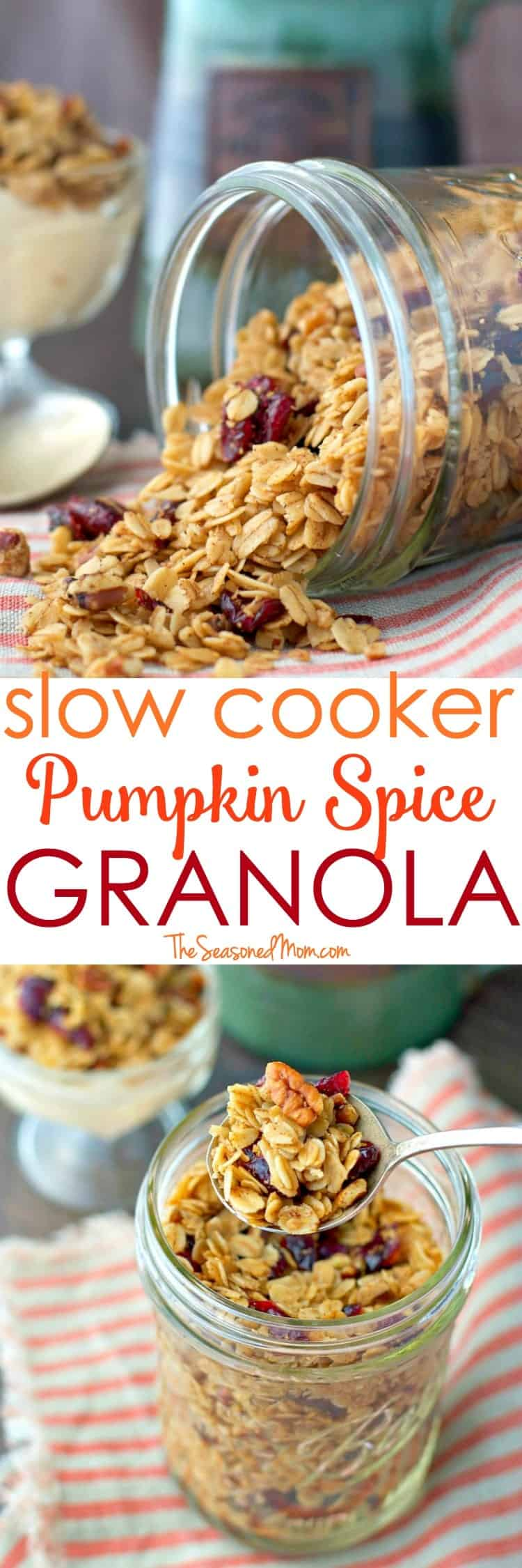 This Slow Cooker Pumpkin Spice Granola Recipe is an easy make-ahead ...
