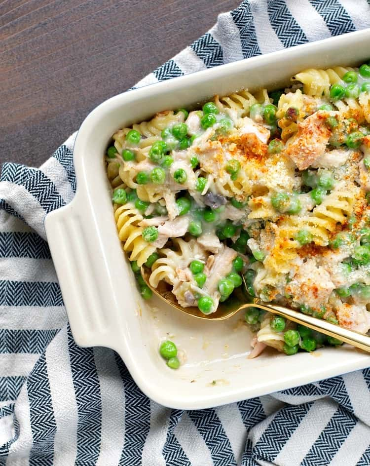 Aunt Bee's Leftover Turkey Casserole is an easy dinner with only 15 minutes of prep!