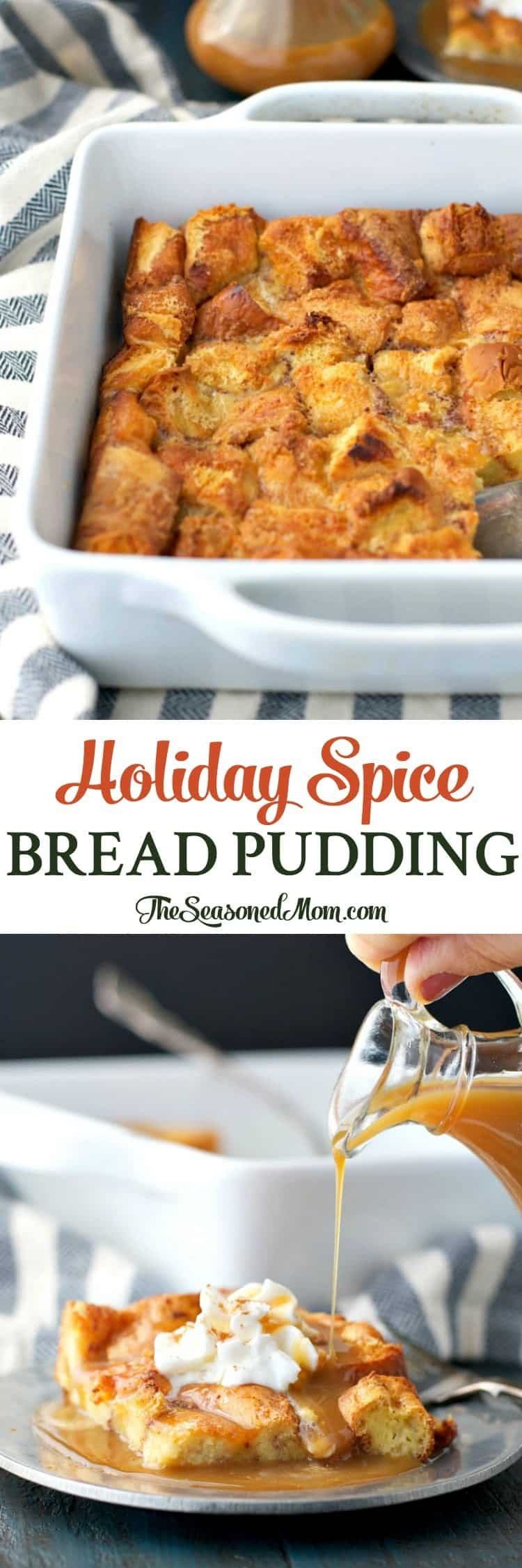 Holiday Spice Bread Pudding is an easy dessert that's ready with only 10 minutes of prep, and it will fill your house with the cozy aroma of the season!