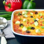 Dump and Bake Chicken Fajita Quinoa