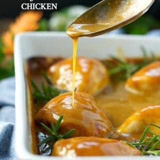 Dump-and-Bake Honey Mustard Chicken