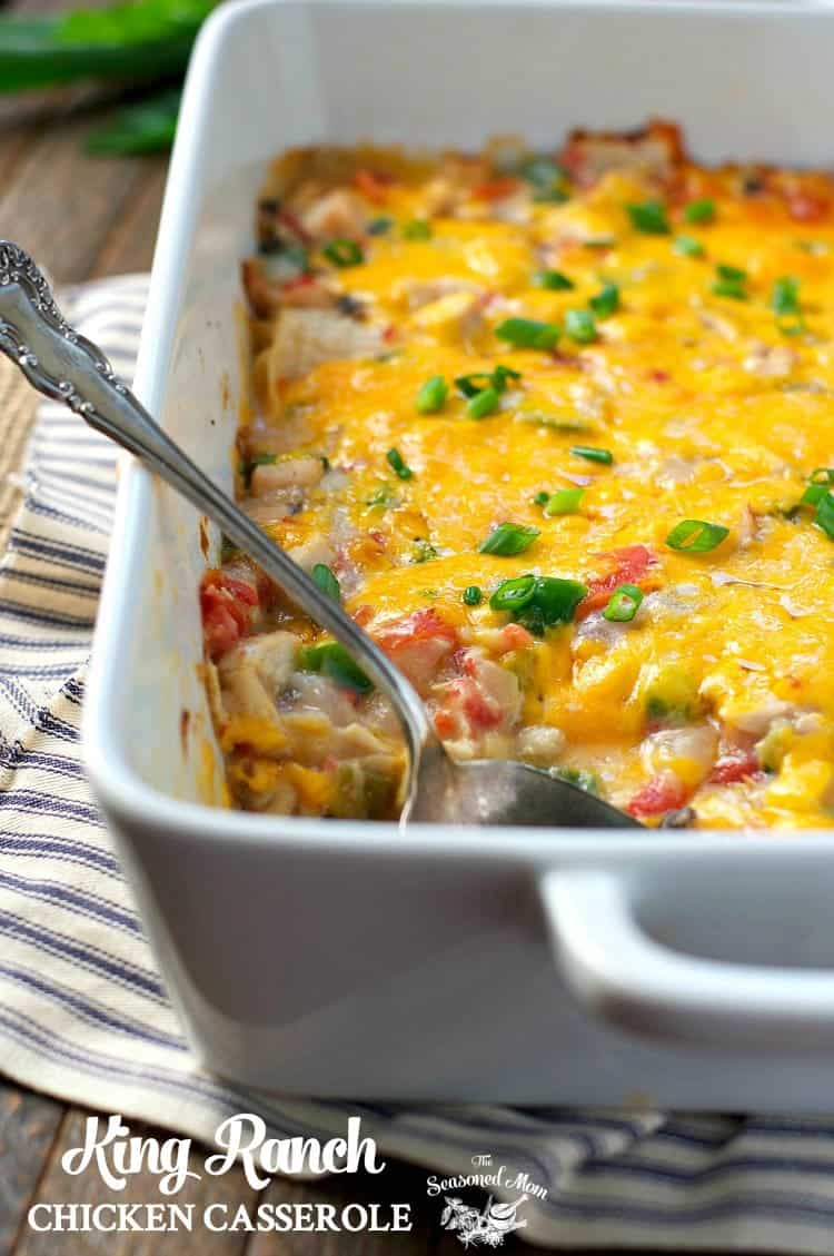 King Ranch Chicken Casserole The Seasoned Mom