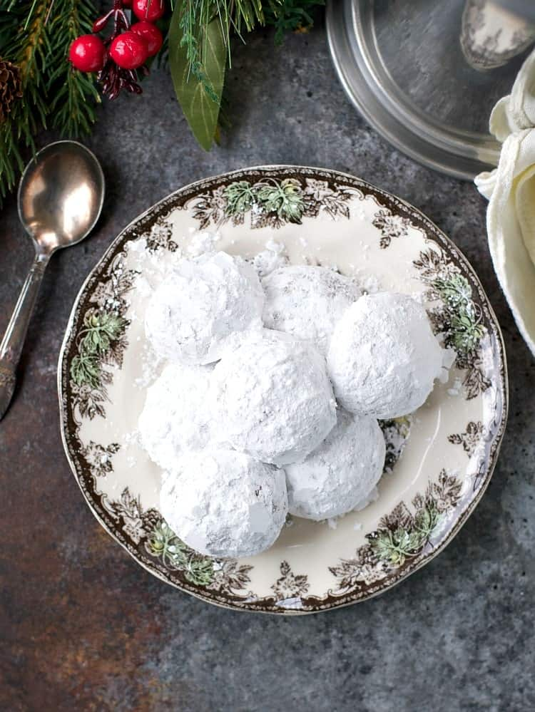 The perfect easy White Christmas cookie! My Grandmother's Bourbon Balls are a no-bake treat that only requires 5 ingredients and a few minutes of prep!