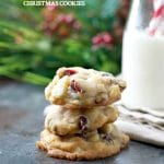 Cherry White Chocolate Chip Christmas Cookies