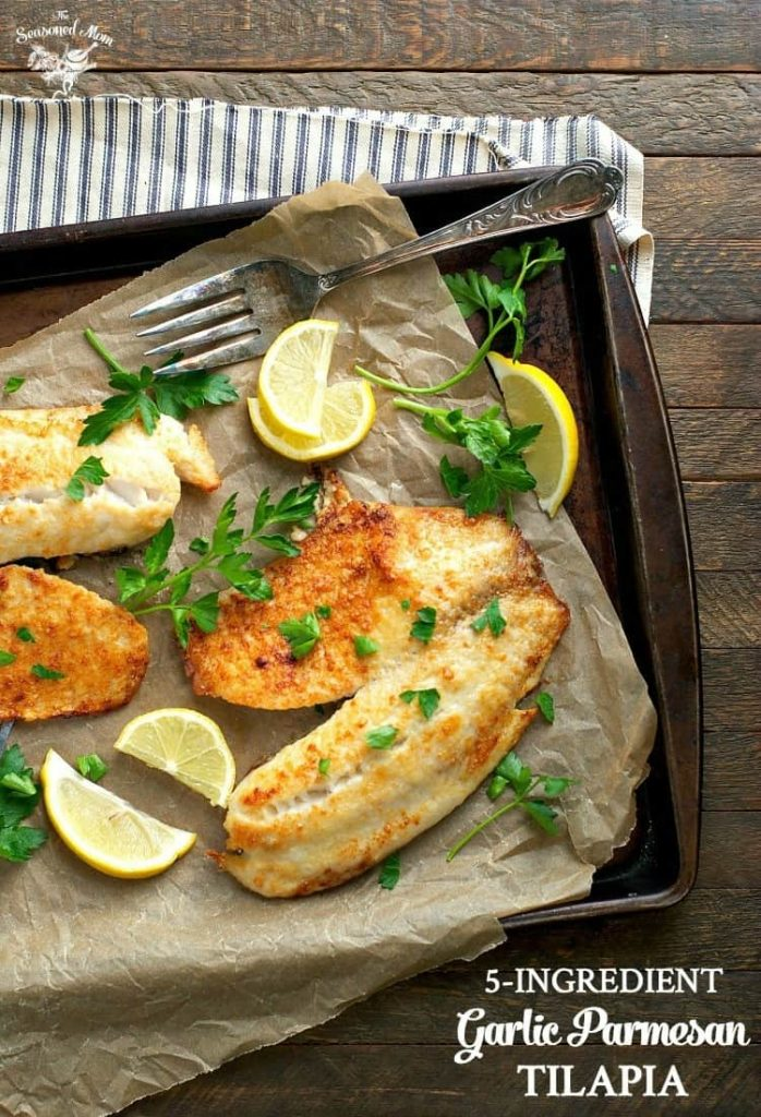 5-Ingredient Garlic Parmesan Tilapia