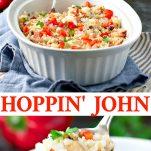 Long collage image of Hoppin John