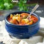Weeknight Meatball and Tortellini Soup