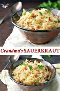 Long collage image of Sauerkraut recipe